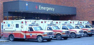 Vstupní rampa ED Lincolnovy nemocnice v bronxu