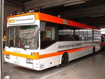 Záchranářský autobus ASB Frankfurt