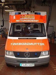 Standardní sanitní vůz ZZS Frankfurt